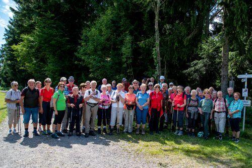 Wandergruppe bei Hochsträss. Seniorenbund Lauterach
