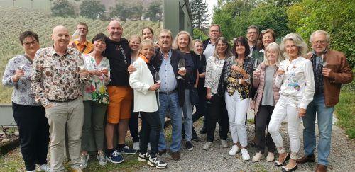 Die Winzerfamilie Möth lud die BFG-Mitglieder zur Weinverkostung ein.BFG
