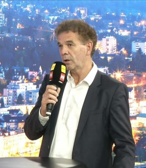 "WKV-Direktor Christoph Jenny zu Gast im Studio von ""Vorarlberg live""."