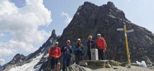 Wolfgang und Roland mit den Teilnehmern.NAturfreunde Hard