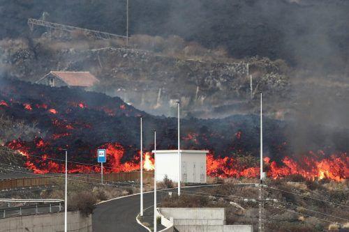 Auf der Insel La Palma sorgt der Ausbruch des Cumbre Vieja weiter für Spannungen. Bewohner im Vulkangebiet mussten fliehen.Reuters