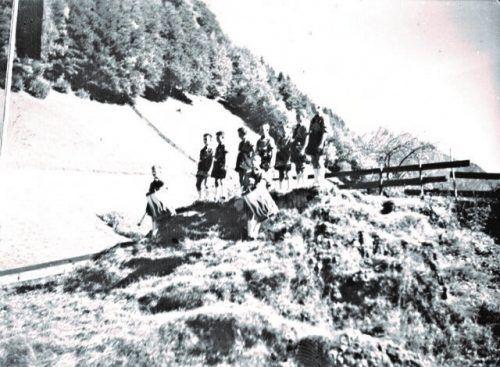 Aufmarsch der Hitlerjugend in Dalaas.Josef Bauer