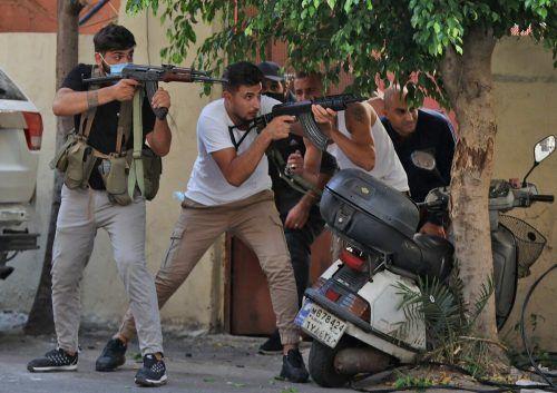 Bei Protesten gegen die schleppende Aufarbeitung der Explosionskatastrophe im Beiruter Hafen kam es zum Gewaltausbruch mit sechs Toten.AFP