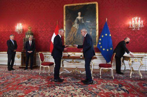 Botschafter Michael Linhart wurde am Montag von Bundespräsident Alexander Van der Bellen als neuer Außenminister angelobt.AFP