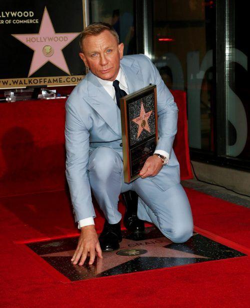 Daniel Craig enthüllte seine Plakette auf dem Hollywood Boulevard.RTS