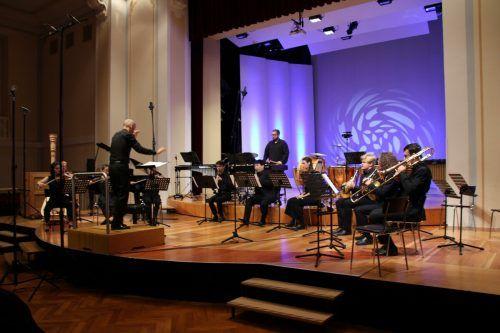 Das Ensemble PulsArt faszinierte mit Neuer Musik im Festsaal des Landeskonservatoriums.Heilmann