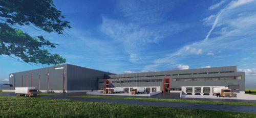 Das neue Zentrallager des Sportartikelherstellers soll Ende 2022 in Betrieb gehen. FA