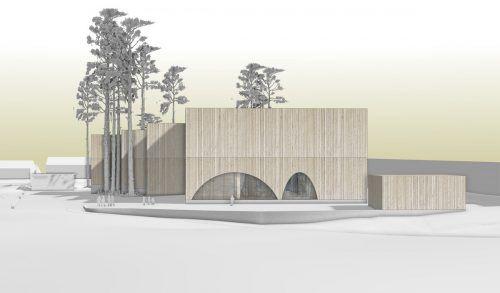 Das Siegerprojekt des Architekturwettbewerbs schaut wie auf dem Bild aus, der Baubeginn ist für Frühjahr 2022 angesetzt. Schmölz
