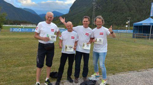 Das Vorarlberger Quartett mit Willi Innerhofer, Josef Eberhöfer, Christoph Kaufmann und Wolfgang Fend. Erstere drei holten sich den EM-Mannschaftstitel in der Klasse M 50.Privat/2