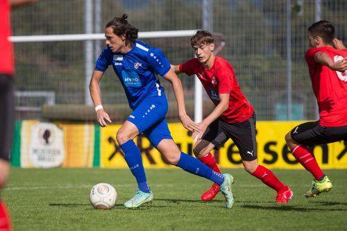 Der Frastanzer Philipp Gaßner erzielte zwei der drei Tore beim 3:2-Heimsieg des AKA-U-18-Teams gegen Tirol.steurer