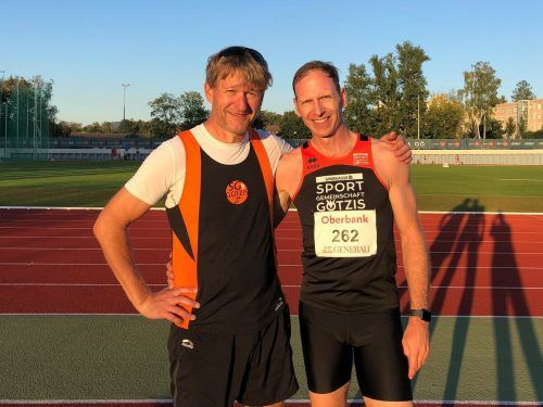 Die beiden Masters-Athleten: Günter Maurer und Michael Riedmann.sportgemeinscahft götzis