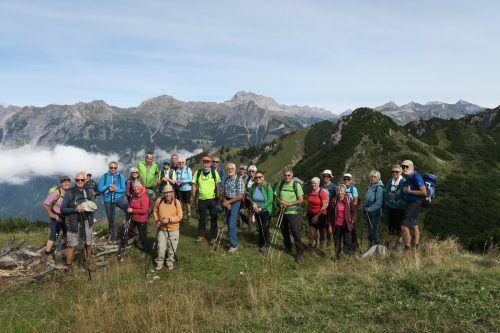 Die Bergfreunde vom Seniorenbund auf dem Wannaköpfle.Seniorenbund