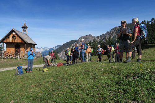 Die Bergfreunde vom Seniorenbund auf dem Rellseck.Vorarlberger Seniorenbund