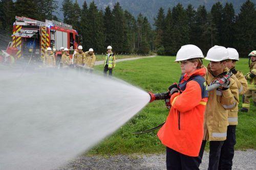 Die Feuerwehrjugend der OF Bludesch.Feuerwehr Bludesch