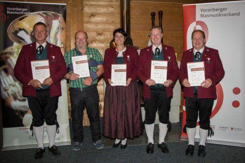 Die Geehrten des MV Thüringerberg für das Jahr 2020.Ernst ritsch