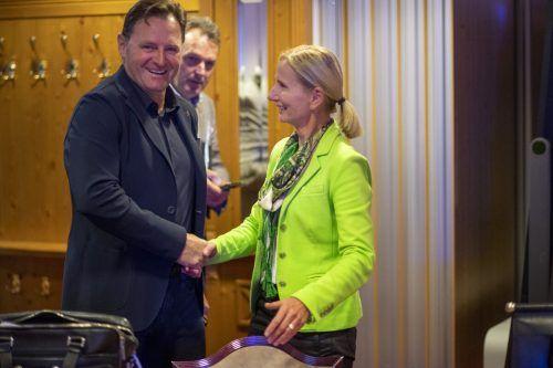 Die neue ÖSV-Führungsspitze mit Präsidentin Roswitha Stadlober und Finanzreferent Patrick Ortlieb.apa