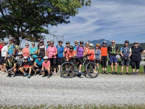 Die Senioren des Mittelbregenzerwaldes auf gemeinsamer Radtour. Seniorenbund