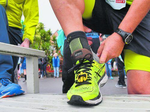 Die Wahl des richtigen Schuhwerks wird für die Teilnehmer bei einem Marathon immer wichtiger.VN-STiplovsek