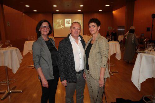 Doris Kuhn, Marcel Steiger und Hypomeeting-Präs. Alexandra Giesinger.