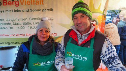Dorothea und Armin Rauch werden beim ersten Regionalmarkt in Bludesch mit ihren Erzeugnissen vertreten sein.Dreiklang
