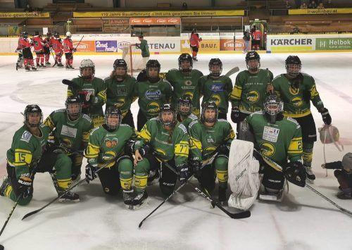 Einen 6:1-Auswärtserfolg feierten die Damen des EHC Lustenau bei den Red Angels in Innsbruck.mima