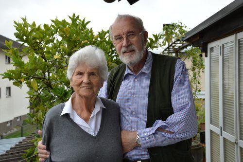 Ella und Anton Huber sind seit 60 Jahren verheiratet. vv