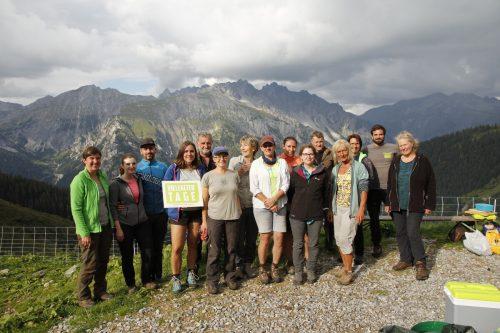 Engagierte Helfer nahmen am Vielfaltertag auf der Thüringer Alpe teil. Privat