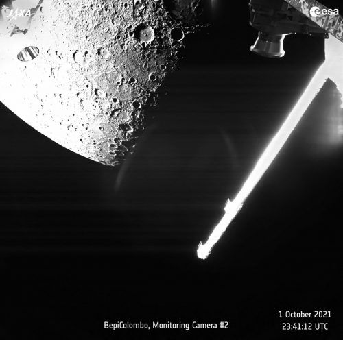 Fast drei Jahre nach ihrem Start sendet BepiColombo Bilder vom Merkur. afp