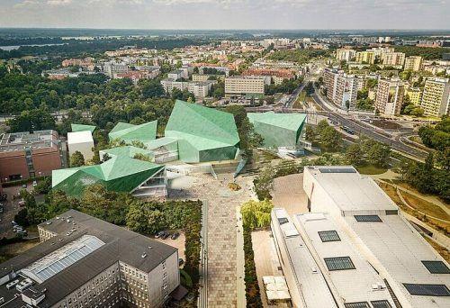 Film Centre aus der Vogelperspektive.
