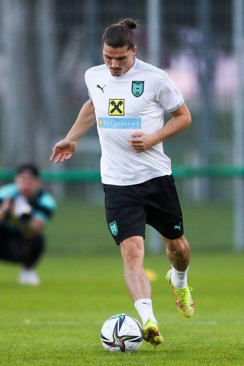 Fokussiert im Training: Marcel Sabitzer.gepa