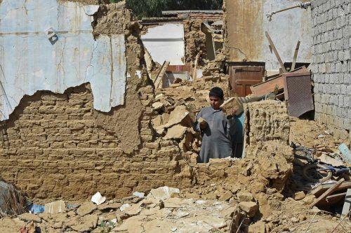 Hunderte Häuser wurden bei dem Erdbeben zerstört.AFP