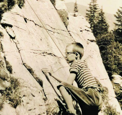 Im Jahr 1970 übte sich Norbert erstmals im Klettern.