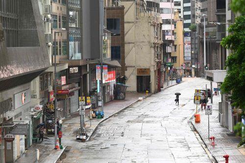 In Hongkong ist am Mittwoch das öffentliche Leben teils zum Erliegen gekommen. AFP
