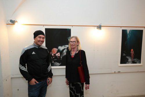 Künstler Andreas Ender und Künstlerin Brigitte Jochum.