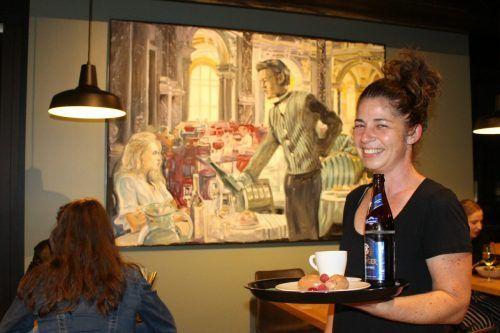 """Künstler Martin Dietrich hat den Traum von Cindy Willam mit der """"Wälderin aus San Francisco"""" effektvoll illustriert. STP/2"""