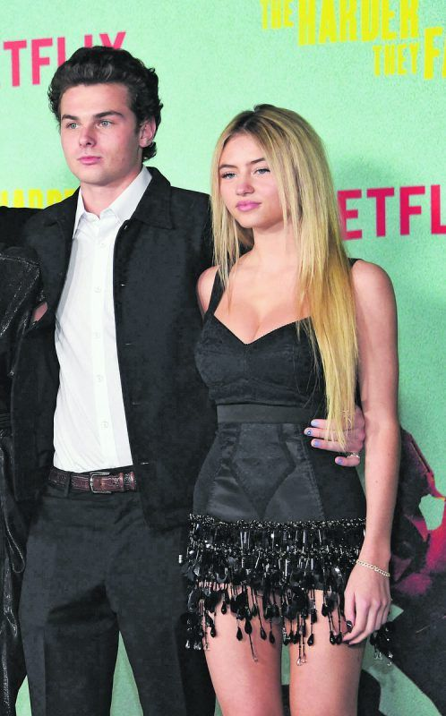 Leni Klum hatte ihr Red-Carpet-Debüt mit ihrem Freund Aris Rachevsky. AFP