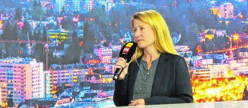 """Literaturhausleiterin Frauke Kühn zu Gast in der Sendung """"Vorarlberg live""""."""