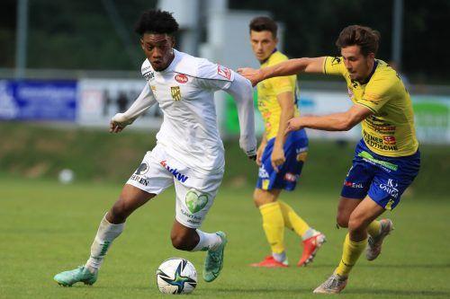 Lustenaus Muhammed Cham kam in Estland zu seinem Debüt für Österreichs U21.gepa