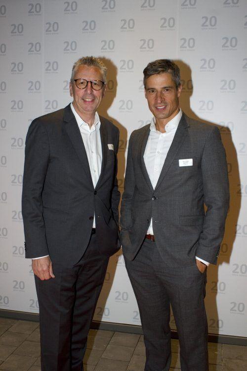 Michael Bauer (l.) und Christian Schäfer folgten ebenfalls der Einladung.
