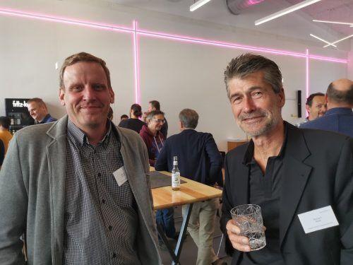 Michael Dünser (dyna/bcs) und Richard Boss (Huber Tricot).