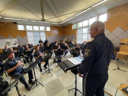 Mit Pauken und Trompeten: Jeden Montagnachmittag wird im Probelokal der Rankweiler Bürgermusik geübt. vn/rau
