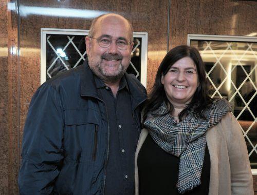 MS-Oesterreich-Geschäftsführer Bernd Hartmann mit Claudia Hartmann (Columbus-Store).