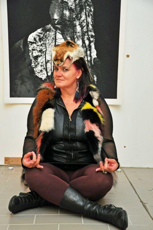 Multimediakünstlerin Bettina Bohne hatte eine Pop-Up-Galerie eingerichtet.