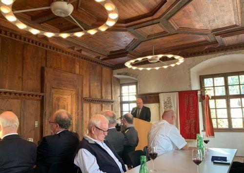 Obmann Helmut Loacker blickte bei seiner Festrede stolz zurück.