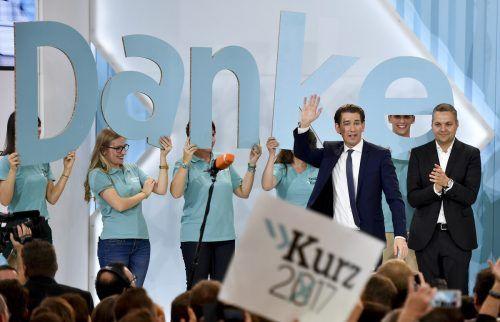 Sebastian Kurz ließ sich 2017 für seinen Wahlsieg feiern. Nun ist er mit schweren Vorwürfen konfrontiert.APA