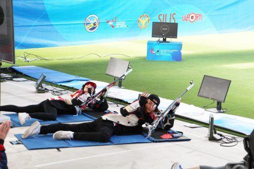Sheileen und Kiano Waibel belegten zum Abschluss bei der Junioren-WM in Peru den zugleich beachtenswerten und bitteren vierten Platz im KK-Mixedbewerb.ÖSV