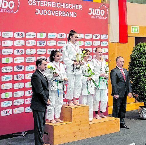 Siegerehrung U16-ÖM. UJC Hohenems