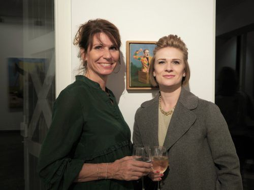 Sprachtrainerin Verena Kremmel und Elke Müller.