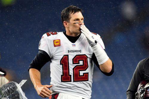 Tom Brady warf sich in die Rekordbücher der NFL.APA