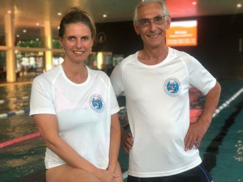 Trainerteam der Flying Flippers.Cornelia Sutterlüty